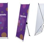 Banery reklamowe: X-baner, L-baner | Pracownia reklamy Logomotiv