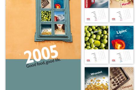 Kalendarz reklamowy Nestle | Pracownia reklamy Logomotiv