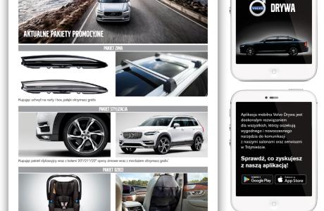 Ulotki reklamowe Volvo | Pracownia reklamy Logomotiv