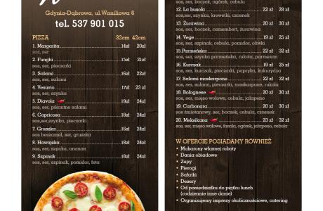 Ulotka reklamowa menu Waniliowa | Pracownia reklamy Logomotiv
