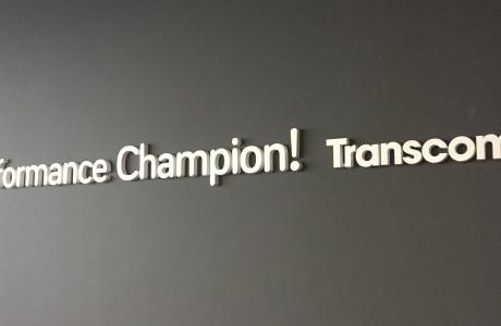 Litery przestrzenne Transcom | Logomotiv
