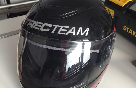 Grafika na kask Trec Team | Pracownia reklamy Logomotiv