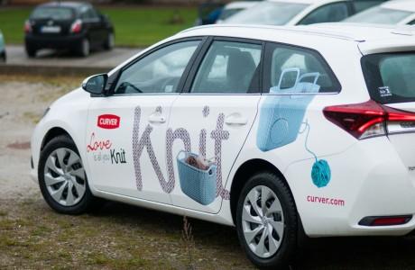 Oklejanie reklamowe aut Curver Poland | Pracownia reklamy Logomotiv