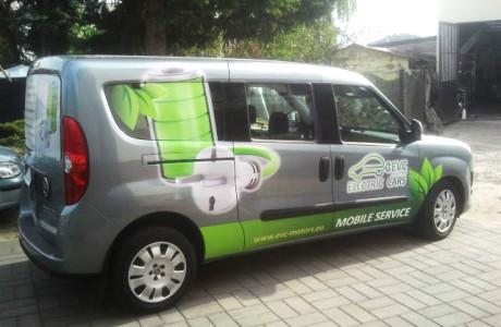 Grafika reklamowa na pojazdach EVC | Pracownia reklamy Logomotiv