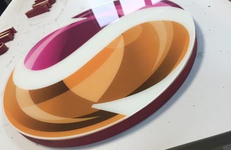 Logo przestrzenne styrodur i plexi Skibińscy | Logomotiv