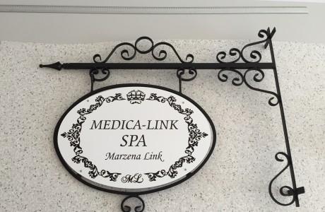 Szyld reklamowy w stylu retro Medica-Link SPA | Logomotiv